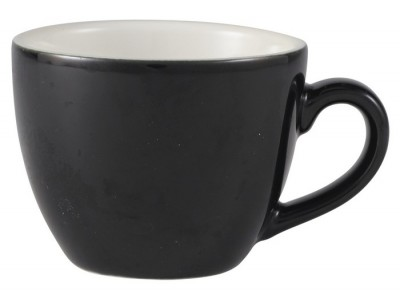 Royal Genware Bowl Shaped Cup 9cl Black