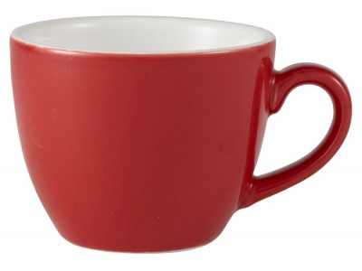 Royal Genware Bowl Shaped Cup 9cl Red