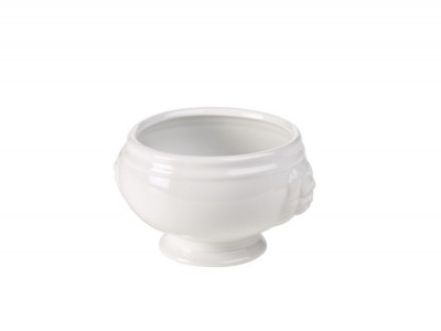 Lion-Head Soup Bowl White 11cm 14oz