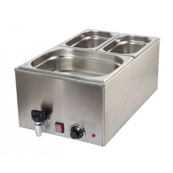 Bain Marie 1/1 With Tap 1.2Kw