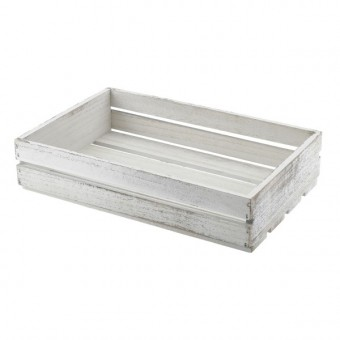 Wooden Crate White Wash...