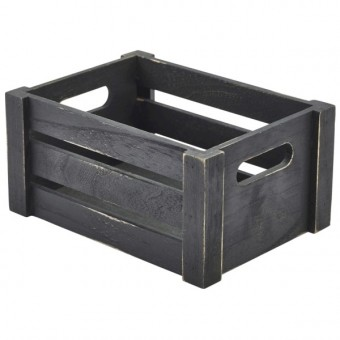 Wooden Crate Black Finish...