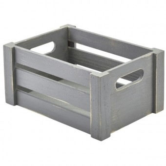 Wooden Crate Grey Finish...