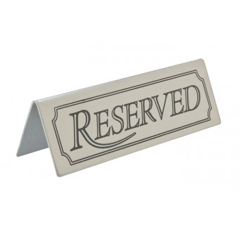 Reserved Table Sign...