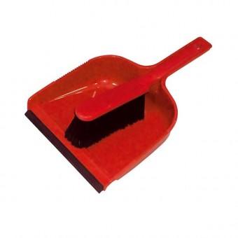 Ramon Dust Pan & Brush Set Red