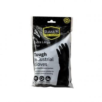 Ramon Black Rubber Gloves...
