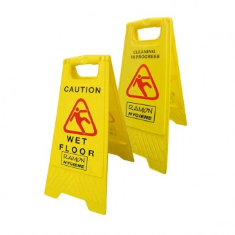 Dual Warning Wet Floor Sign
