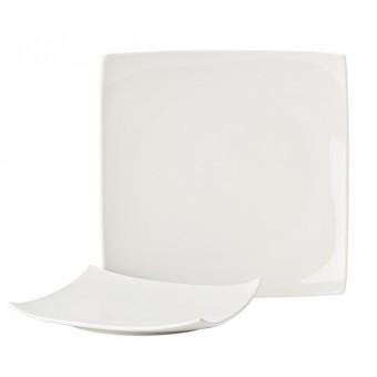 """Pure White Square Plate 8""""..."""