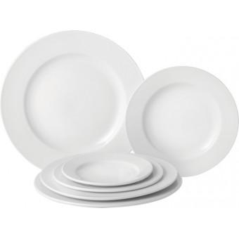 Pure White Wide Rim Plate...