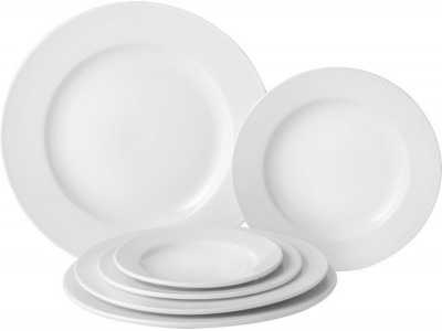 "Pure White Wide Rim Plate 6.75"" (17cm)"