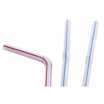 Plastic Bendy Straws -...