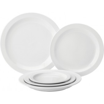 Pure White Narrow Rim Plate...