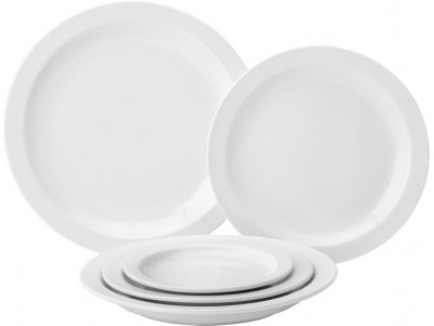 "Pure White Narrow Rim Plate 8"" (20.6cm)"