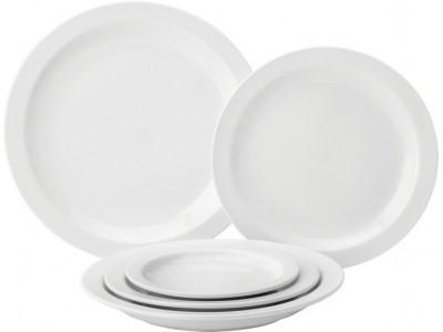 "Pure White Narrow Rim Plate 9"" (23cm)"