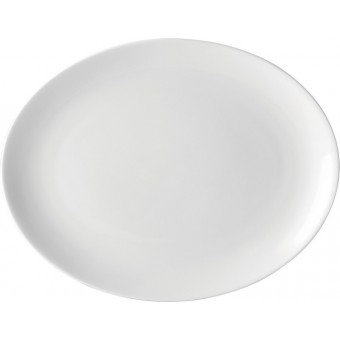 "Pure White Oval Plate 10""..."