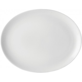 "Pure White Oval Plate 12""..."