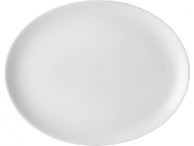 "Pure White Oval Plate 12"" (30cm)"