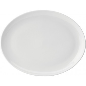 "Pure White Oval Plate 14""..."