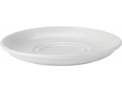 "Pure White Double Well Saucer 6"" (15cm)"