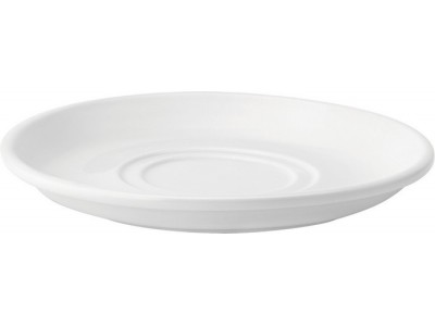 "Pure White Double Well Saucer 7""..."