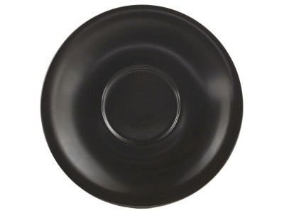 Matt Black Porcelain Saucer 12cm