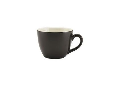 Matt Black Porcelain Bowl Shaped Cup...