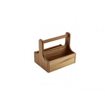 Medium Dark Wood Table Caddy