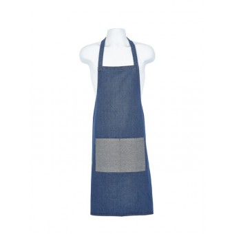 Double Denim Bib Apron 70 x...