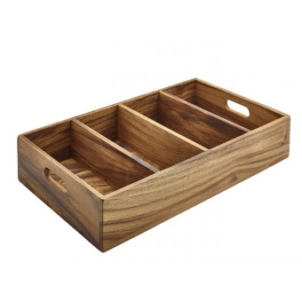 Acacia Wood 4 Compartment...