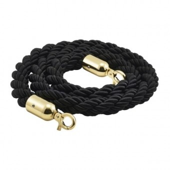 Barrier Rope Black- Brass...