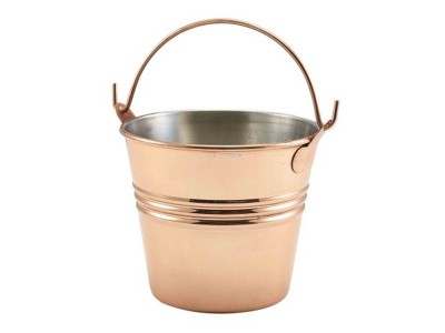 Copper Plated Serving Bucket 10cm Dia