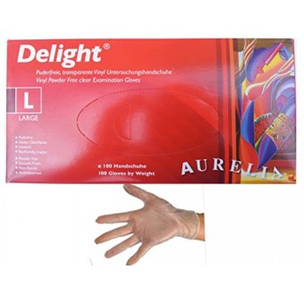 Clear Powder Free Vinyl Gloves