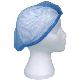 """Hairnet Nylon 21"""" Blue Pk 100"""