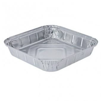 """Foil Takeaway Container 9""""x9"""""""
