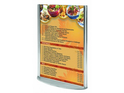 Double Sided Poster Holders with Oval...