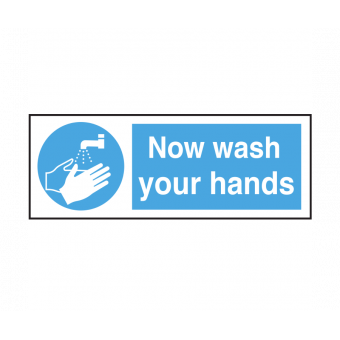 Now Wash Your Hands text...