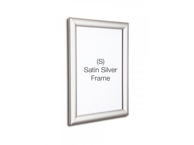 Silver 25mm Profile Snap Poster Frame