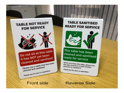 Double sided table not...