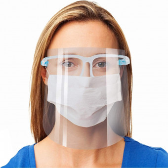 Face Shield with Glasses...