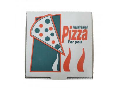 """Pizza Box 10"""" Flame Design"""