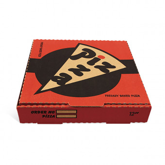"Pizza Box 14"" Red and Black"