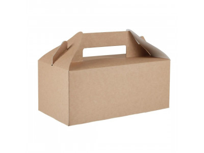 Recyclable Kraft Gable Carry Boxes Large