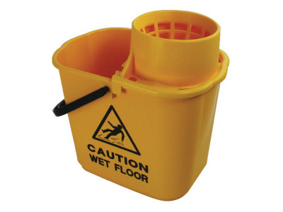 Mop Bucket and Wringer 15L Yellow
