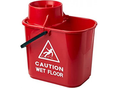 Mop Bucket and Wringer 15L Red
