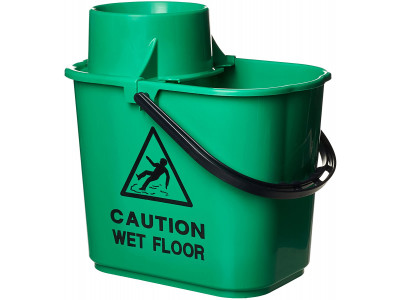 Mop Bucket and Wringer 15L Green