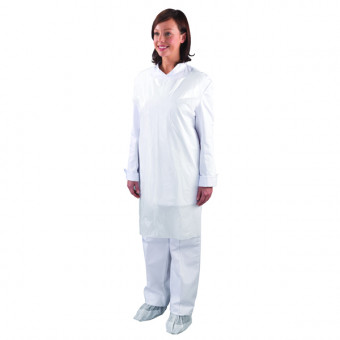White Disposable Aprons on...