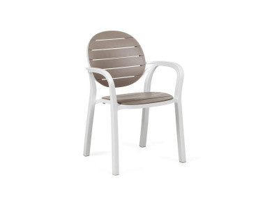 Palma Bianco / Tortora Chair With...