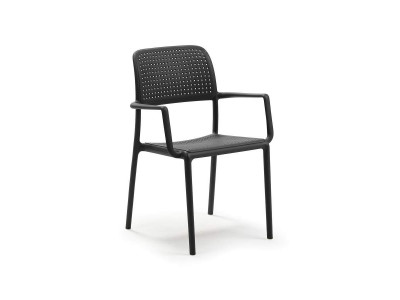Bora Antracite Chair With Armrests
