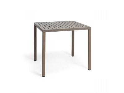 Cube 80 Tortora 4 Leg Square Table
