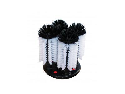 5 Brush Sink Glass Washer - Short Centre